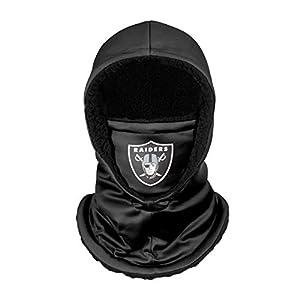 FOCO Las Vegas Raiders NFL Black Hooded Gaiter, adult (SVNFGRHDSN) by Team Beans, LLC