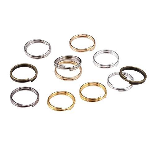 De múltiples fines 200 unids / bolsa 6 8 10 12 mm Anillos de salto abiertos Dobles LOOPS Conectores de anillos divididos para joyería de bricolaje Haciendo accesorios de búsqueda para la fabricación d