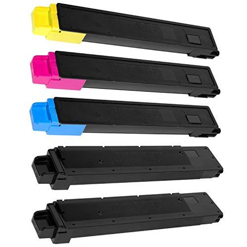 5 Toner kompatibel für Kyocera TASKALFA 2551CI - TK-8325K TK-8325C TK-8325M TK-8325Y 1T02NP0NL0 1T02NPANL0 1T02NPBNL0 1T02NPCNL0 - Schwarz 18.000 Seiten, Color je 12.000 Seiten