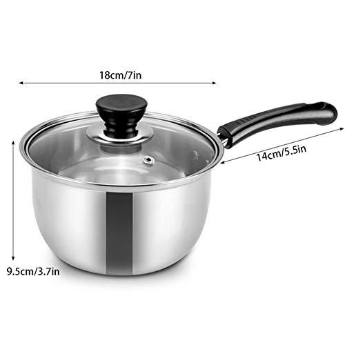 Fypo Stainless Steel Pot van de Soep Babyvoeding Pot Cookware Non-stick Pan Gas Cooker Milk Potten Kitchen Tools (Color : 18cm)