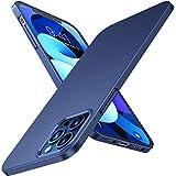 TORRAS Slim Fit für iPhone 12 Hülle/iPhone 12 Pro Hülle (Dünn Aber Schützend) (Minimalism Superdünn) mit 2 Schutzglas, Kratzfest Matte Blau Handyhülle iPhone 12/12 Pro Hülle, Decency Series