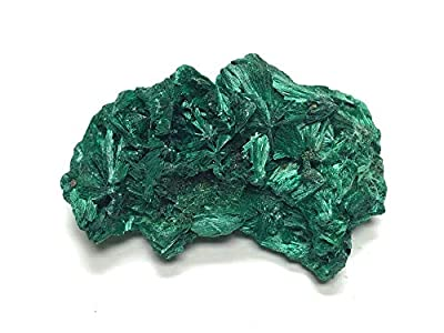 "Zentron Crystal Collection Fibrous Malachite Stone - Raw Stone in Velvet Bag (Small (1-2""))"
