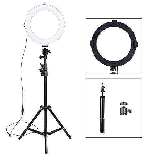 Luz De Anillo Led Selfie, Regulable De 8 Pulgadas con Trípode, Fotografía De Iluminación, para Transmisión En Vivo Luz De Relleno De Youtube