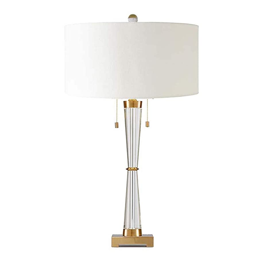 スカイ商業の引退したクリスタルテーブルランプ高級雰囲気寝室リビングルームベッドサイドランプ研究デスクランプ作業ライト Xsyhcyzqd (Color : A)