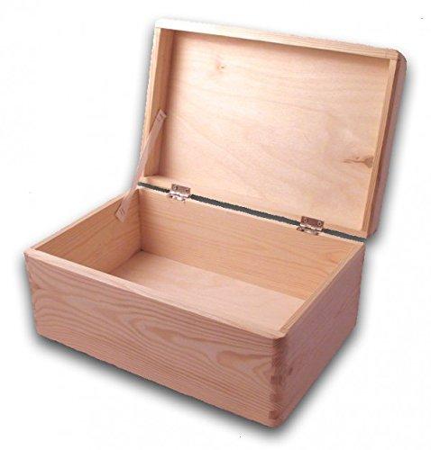 MidaCreativ große Aufbewahrungsbox/ Holzkiste Gr. 1 mit Deckel Kiefer unbehandelt