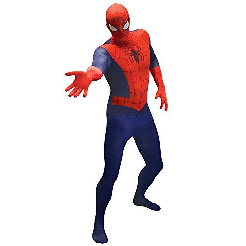 Morphsuits Spiderman Ganzkörperanzug Kostüm für Erwachsene, Marvel Verkleidung, Faschingskostüm Herren Damen - XL