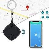 MUXAN Buscador de llaves, rastreador de localización de largo alcance, dispositivo de seguimiento inalámbrico antipérdida, con aplicación para iOS y Android (llavero no incluido)