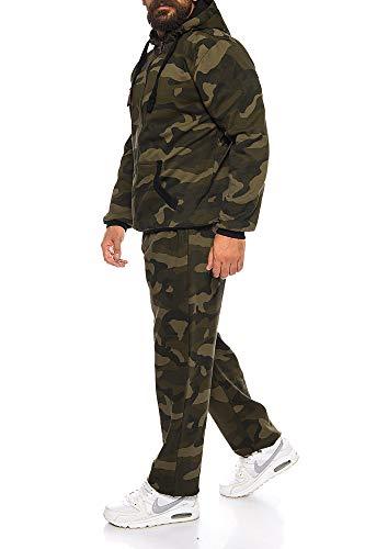 Finchman Finchsuit 1 Herren Jogging Anzug Trainingsanzug Sportanzug FMJS135, Camo Grün, XL - 3