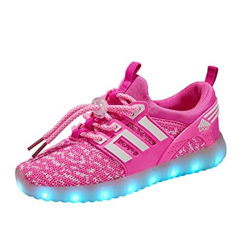 DIYBESTGIFT Boy Girl Unisex 7 Farbe Farbwechsel USB Aufladen LED Leuchtend High-Top Sport Schuhe Hoch Sneaker Turnschuhe