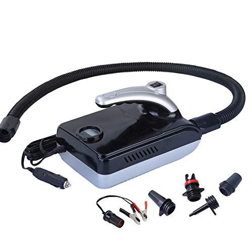 Heritan Bomba de aire eléctrica de 20 PSI, inflador de aire digital para barcos al aire libre, tienda, tabla de remo, tabla de surf