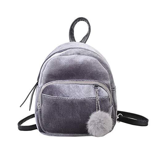SicongHT Mädchen Frauen Tasche Niedlich Klein Mini Rucksack Mode Schultertasche Reise Daypack Rucksack mit Pelzball