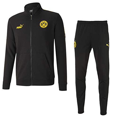 PUMA Borussia Dortmund Culture Trainingsanzug 2020 Kinder schwarz Gr 164