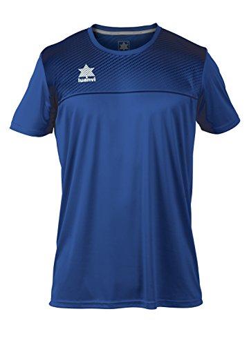 Luanvi Apolo - Camiseta de Manga Corta Básica de Deporte, Azul Marino,...