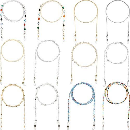 12 Stücke Brillenketten Halskette Brillenhalter Perlen Lanyard Ketten Kordel
