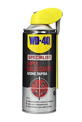 WD-40 Specialist - Super Sbloccante Lubrificante Spray Azione Rapida con Sistema Doppia Posizione - 400 ml