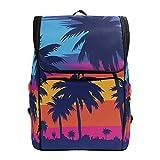 Mochila para el aire libre, playa, con palmeras, casual, viajes, ordenador...
