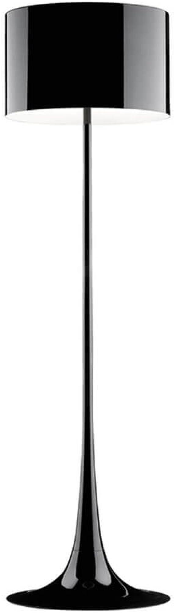 Flos spun light f lampada da terra nero lucido in alluminio F6612030