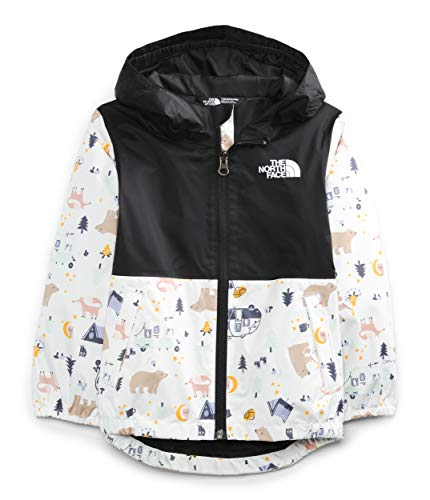 The North Face Toddler Zipline Rain Jacket, TNF White Camping Friends Print, 2T -  NF0A53D6055