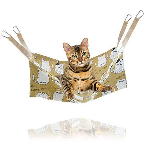猫 ハンモック ペットハンモック 「 選べる5種類 47×47cm 耐荷重7kg 」 はんもっく ねこ フェレット 小動物 ペット用ハンモック ゲージ用 オールシーズン ハンモックベッド 猫用品 ペット用品 丸洗い可能 【N.M.JAPAN】 (Cタイプ)