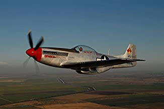 Posterazzi GLP469052LARGE Poster Print Collection P-51D Mustang Flying Over Vacaville California Poster Print By Phil Will...