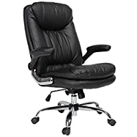 👍Durable Material -- The executive office chair is made of premium and environmentally friendly PU leather is soft, durable, water-repellent and fading resistant, easy to clean, the back support and seat made of high density foam and spring features ...