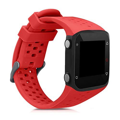kwmobile Pulsera Compatible con Polar M400 / M430 - Brazalete de Silicona en Rojo Mate sin Fitness Tracker