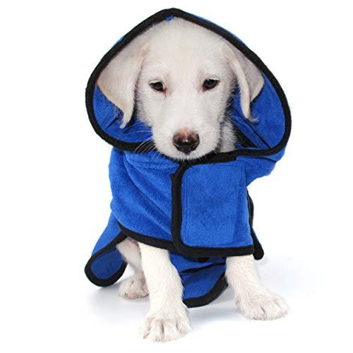 Shilia opmerkelijke huisdier hond kat badjas, snel droog huisdier bad handdoek, absorberen water bad badjas Hot