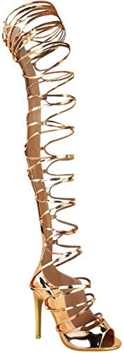 Cheap gladiator thigh high boots _image1