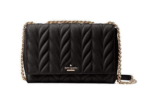 Kate Spade New York Briar Lane Quilted Emelyn Black Shoulder Chain Bag, Medium