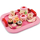 Toyshine Wooden Princess Afternoon Tea Party Set Pretend Play Toy for Girls