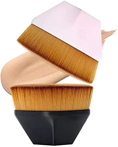 Cepillo de la Fundación - Cepillo de maquillaje profesional de alta densidad Cepillo de cosméticos sin fisuras Cepillo de doble uso seco y húmedo Cepillo de cara para mezclar crema líquida o polvo sin