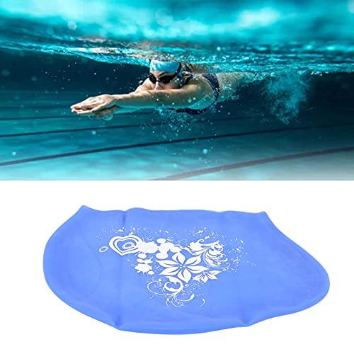 FOLOSAFENAR Natación de Silicona, Gorros de natación amigables con la Piel para Mujeres Contou aerodinámico con Superficie Duradera y elástica 100% Silicona Nadar(Blue)