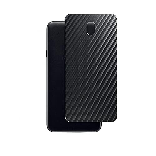 Vaxson 2 Unidades Protector de pantalla Posterior, compatible con Galaxy J7 Crown, Película Protectora Espalda Skin Cover - Fibra de Carbono Negro