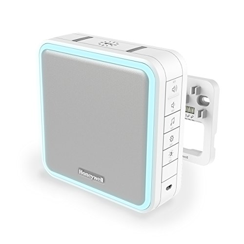 Honeywell Home DW915S Serie 9 Tragbar, verdrahteter oder Funk-LED-Gong (weiß)
