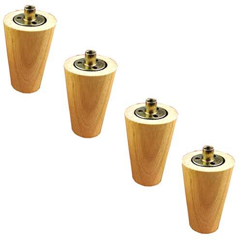 GWFVA Massief hout voet kabinet voet steun voet conische log salontafel been kruk tafel poten massief hout meubels benen dan roestvrij staal kast voeten sterke x4