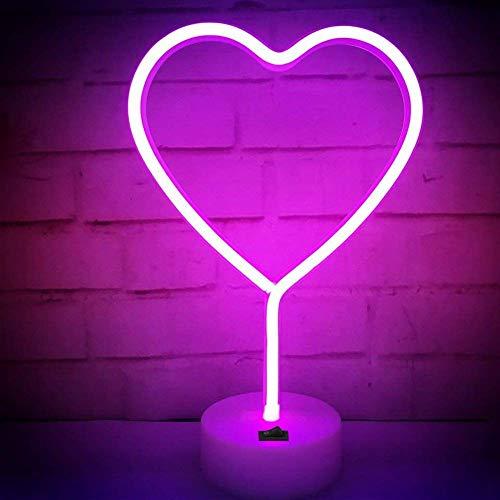 LED Neon Night Light, Cat Signs Neon Lights Applique Murale décorative Batterie Chambre à Coucher Enfants et USB Powered Home Decor Neon Light (Star)
