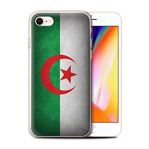 Telefoonhoesje voor Apple iPhone SE 2020 Vlaggen Algerije/Algerijnse Ontwerp Transparant Heldere Ultra Zachte Flexi Siliconen Gel/TPU Bumper Cover