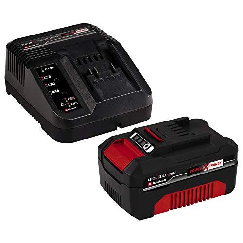 Einhell 4512041 Starter Kit Batteria e Caricabatterie Power X-Change (Ioni di Litio, 18 V, Batteria da 3,0 Ah e Caricabatterie Rapido, Compatibile con tutti gli Utensili Power X-Change), Nero-Rosso