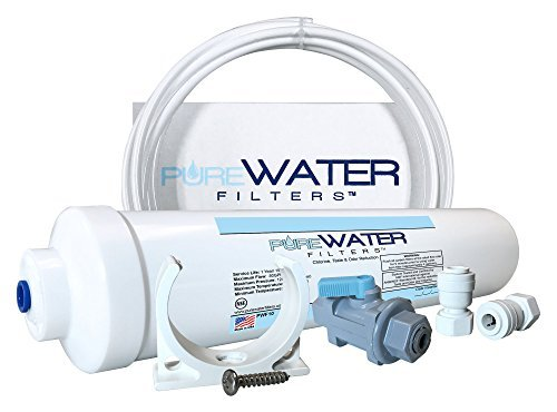 "Inline Water Filter Kit for Refrigerators With T-Connector 1/4"" Quick-Connect Fitting"