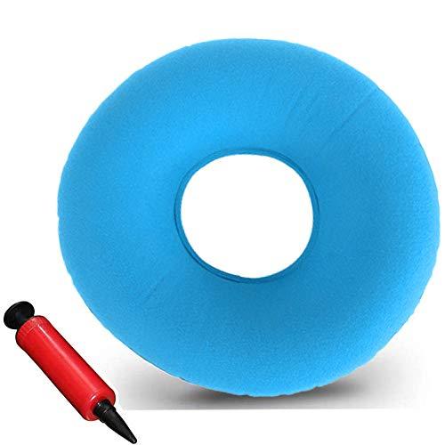 Hämorrhoiden Sitzkissen Aufblasbar,Aufblasbares Sitzkissen Orthopädisch,Donut sitzkissen Orthopädisch,Aufblasbares Kissen Weich Sitzring mit Pumpe,Sitzring Hämorrhoiden Aufblasbar (Hellblau/1PCS)