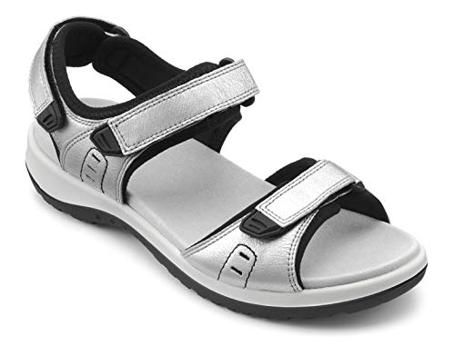 Hotter Damen Walk Sandale, Platin, 42 EU