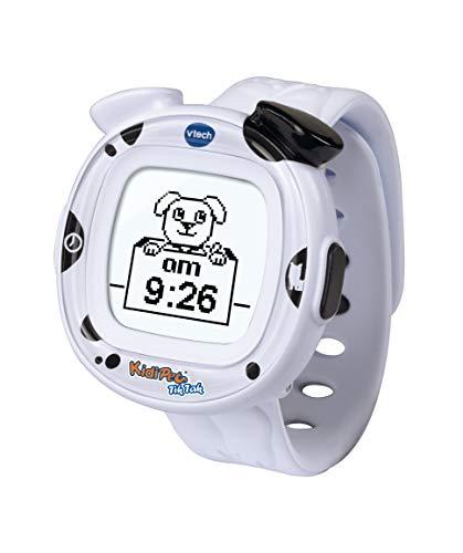 VTech- Kidi Pet TIK Tak Formato Digital y analogico de la Hora. Reloj, Color Blanco (3480-170522)