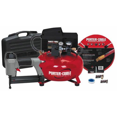 PORTER-CABLE CFBN125A 18-Gauge Brad Nailer Compressor Combo Kit