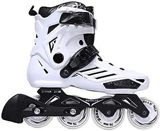 ZLSANVD Roller Skates Men Women's Inline Skates Adult Roller Freestyle Skating Skating Rockered Wheels 18 RS6 White