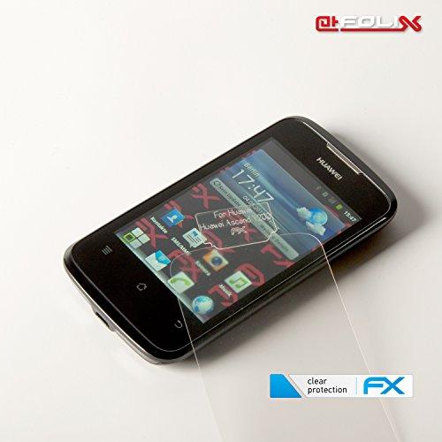 atFoliX Displayschutzfolie für Huawei Ascend Y200 (3 Stück) - FX-Clear: Displayschutz Folie kristallklar! Höchste Qualität - Made in Germany! - 4