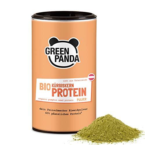 Green Panda Bio Kürbiskern-Protein Pulver 59{1115f03b8f236171c1fd1381948383985d12e4184c73bae21af66a0104046183} Proteingehalt/ vegan / glutenfrei / laktosefrei / Superfood Eiweißpulver 225g Kürbiskernprotein aus 100{1115f03b8f236171c1fd1381948383985d12e4184c73bae21af66a0104046183} aus österreichischen Kürbiskernen