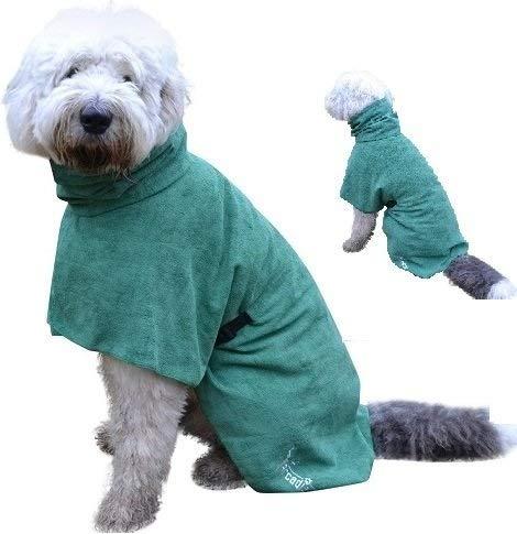 Arcadian Mikrofaser Hunde Bademantel, leicht, schnell trocknend und super saugfähig.