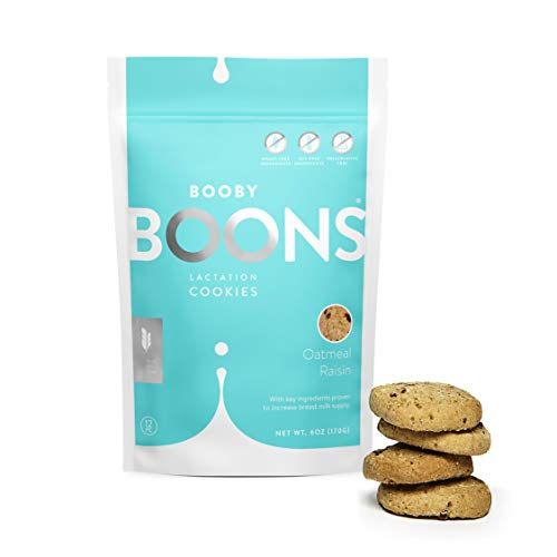 Booby Boons Lactation Cookies, Oatmeal Raisin, 6 Ounce Bag – Made with Gluten Free, Soy Free, Fenugreek free and non gmo ingredients.. The milk's on the way!