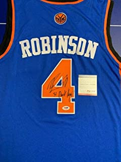 Nate Robinson Autographed Signed Jersey (Size XL) PSA/DNA COA Inscribed 3X Dunk Champ New York Knicks