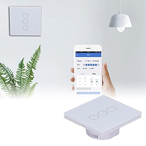 Interruptor táctil, Compatible con Control Remoto Práctico práctico Interruptor de luz Inteligente para lámparas LED de atenuación Continua Lámparas incandescentes